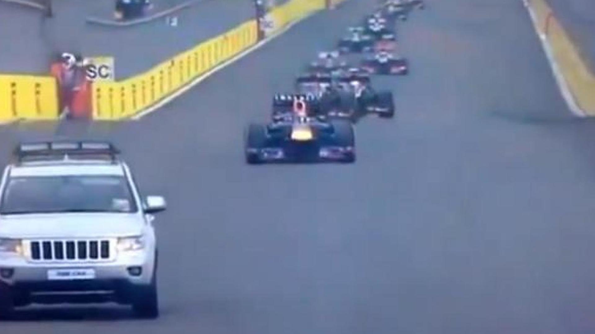 Jeep 'fire truck' interrupts Korean GP, organisers escape penalty [video]
