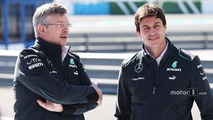 Ross Brawn, Mercedes AMG F1 Team Principal with Toto Wolff, Mercedes AMG F1 Shareholder and Executive Director