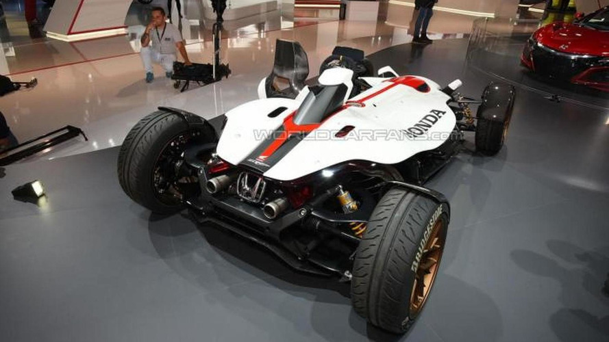 Honda blends track car and motorcycle into the Project 2&4 in Frankfurt