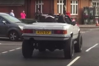 Clarkson, Hammond, and May Caught Riding Around Town in a Lifted Mercedes