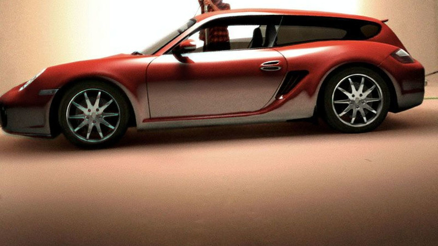 Porsche Cayman Shooting Brake Uncovered? Probably not but worth a look...