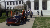 Governor Schwarzenegger Test Drives Ronn Motors Scorpion Supercar