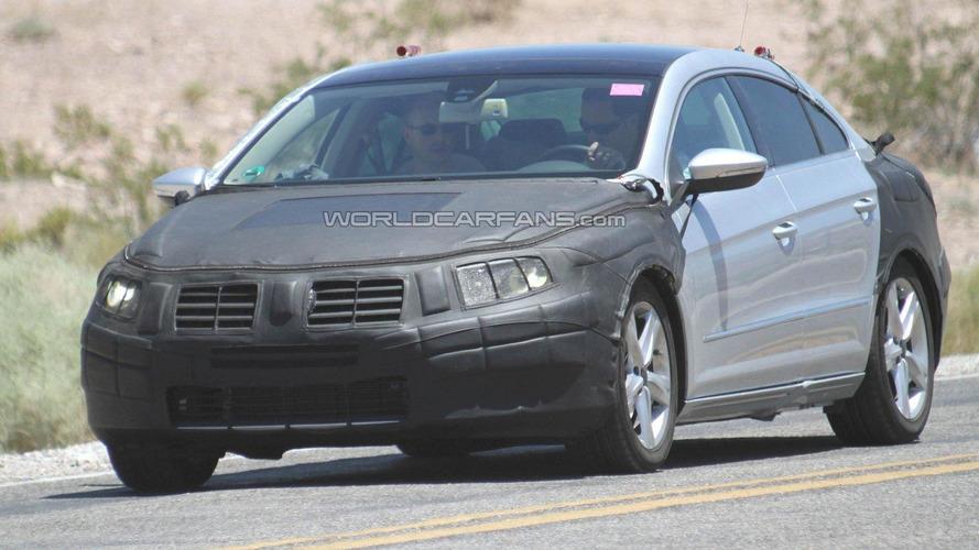 2012 VW Passat CC facelift spied hot-weather testing