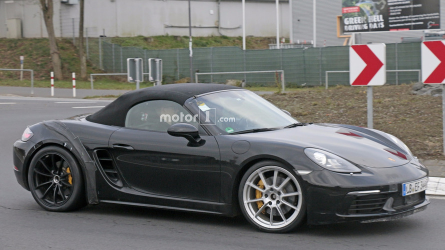 Looks like Porsche is out 'Ring testing the 718 Boxster GTS