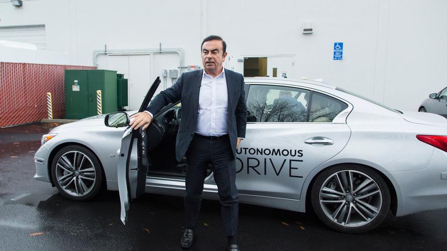 Carlos Ghosn drives Infiniti Q50 autonomous prototype