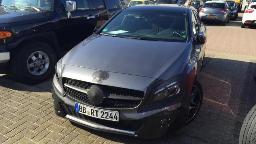 Mercedes-Benz A45 AMG facelift spied with minimal camouflage
