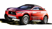 Mitsubishi Announce New Racing Lancer for 2009 Dakar Rally
