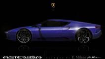 Lamborghini Asterion rendered based on teaser image