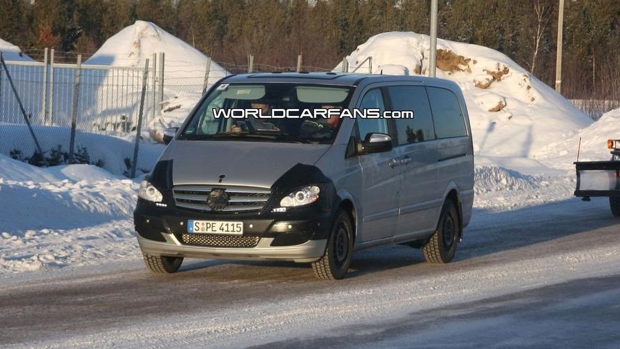 Mercedes Viano Facelift Spy Photos
