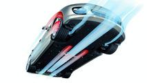 Porsche Panamera extra-large lightweight underfloor cover for improved aerodynamics