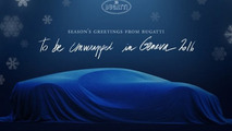 Bugatti Chiron teased in Christmas card