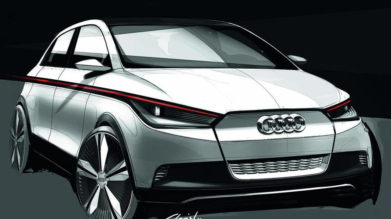 Audi A2 EV Concept sketches
