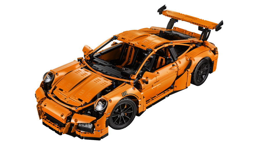 Lego Porsche 911 GT3 RS instruction manual close to 600 pages, watch unboxing and speed build