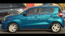 Fiat Mobi city car spied undisguised