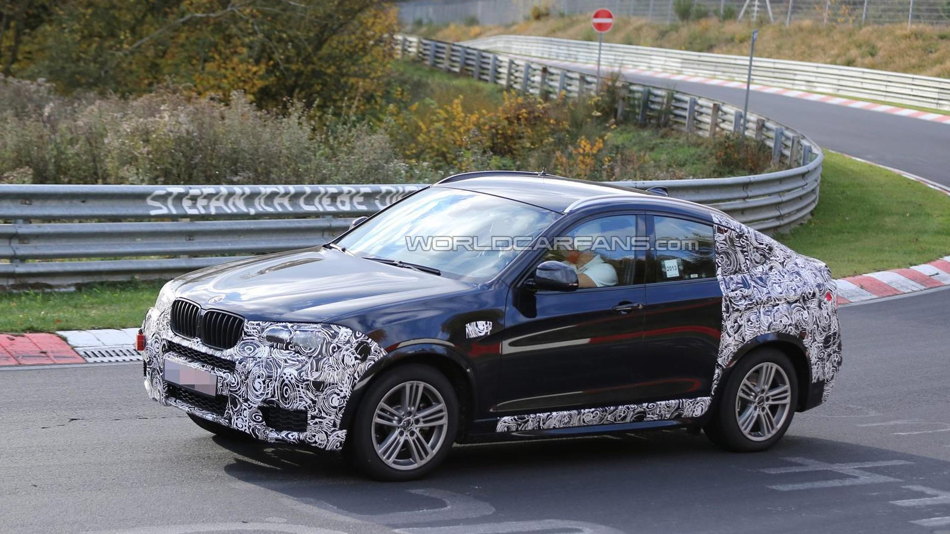 2014 BMW X4 spied wearing less camouflage
