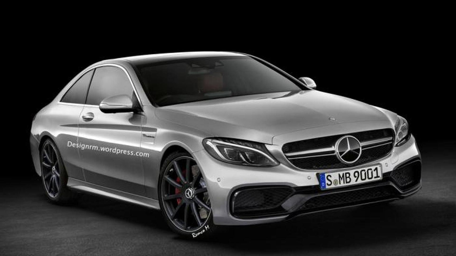 Mercedes C63 AMG Coupe rendered