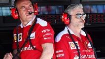 Jock Clear, Ferrari Engineering Director with Maurizio Arrivabene, Ferrari Team Principal