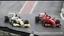CARPLACE no GP Brasil de F1:  Barrichello larga na pole position em Interlagos e Button em 14°