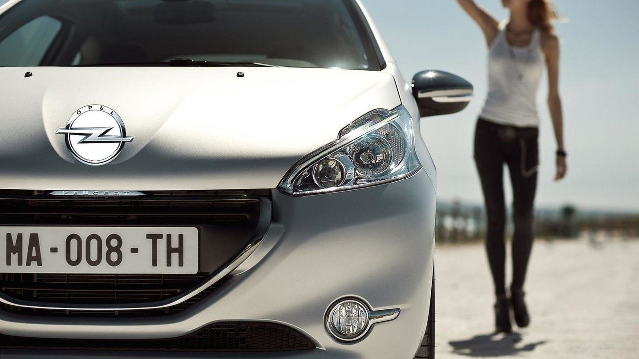 Peugeot 208 with poorly edited Opel badge 22.02.2012