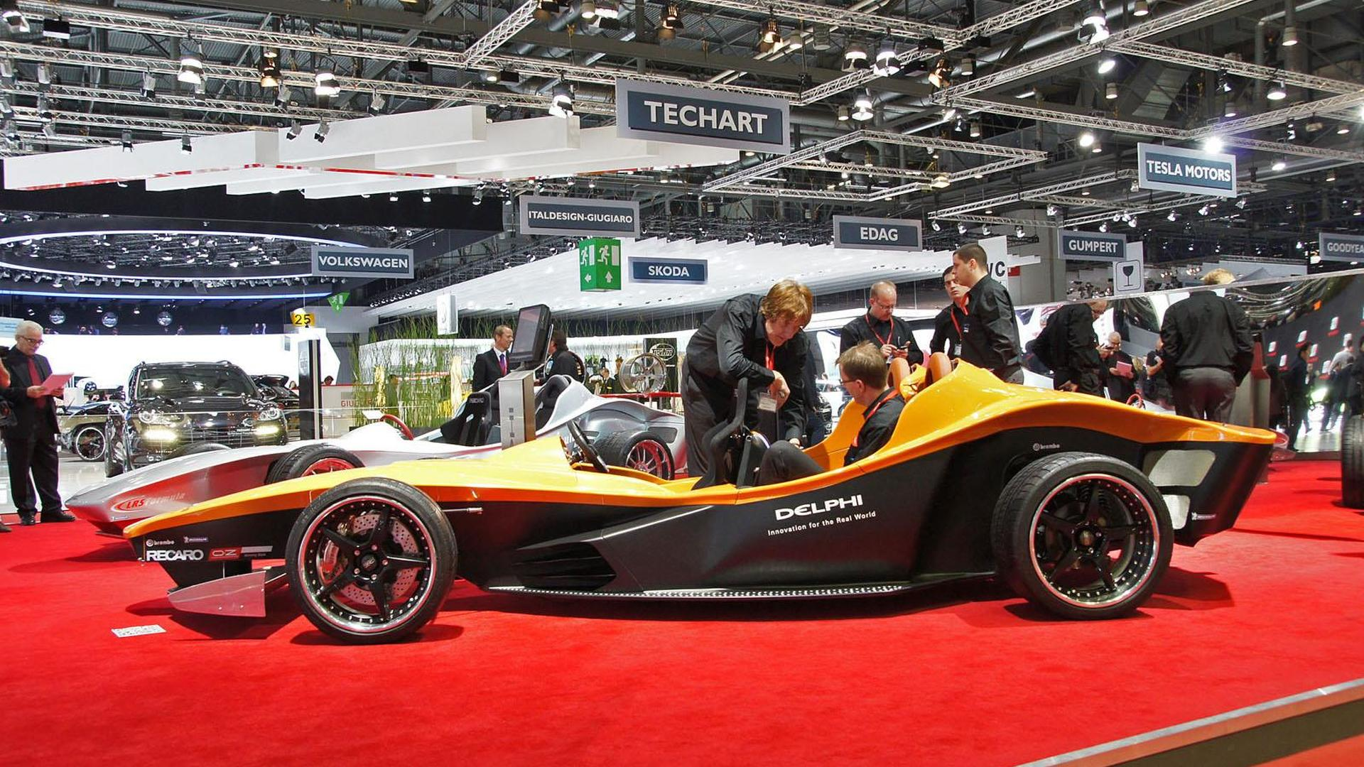 Delphi Sbarro F1for3 concept unveiled in Geneva
