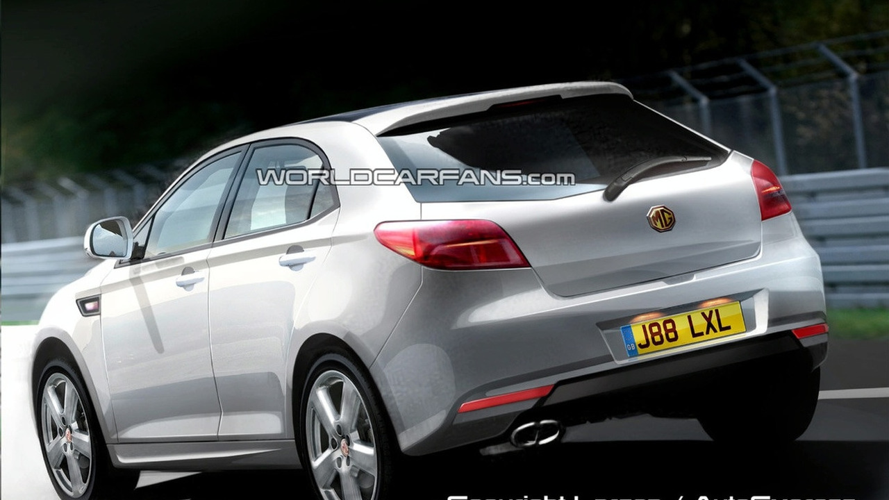 MG hatchback artist rendering
