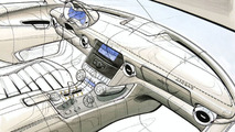 Mercedes-Benz SLS AMG Gullwing design sketch - hi res