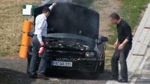 2012 Mercedes-Benz SLK prototype smokes at Nurburgring