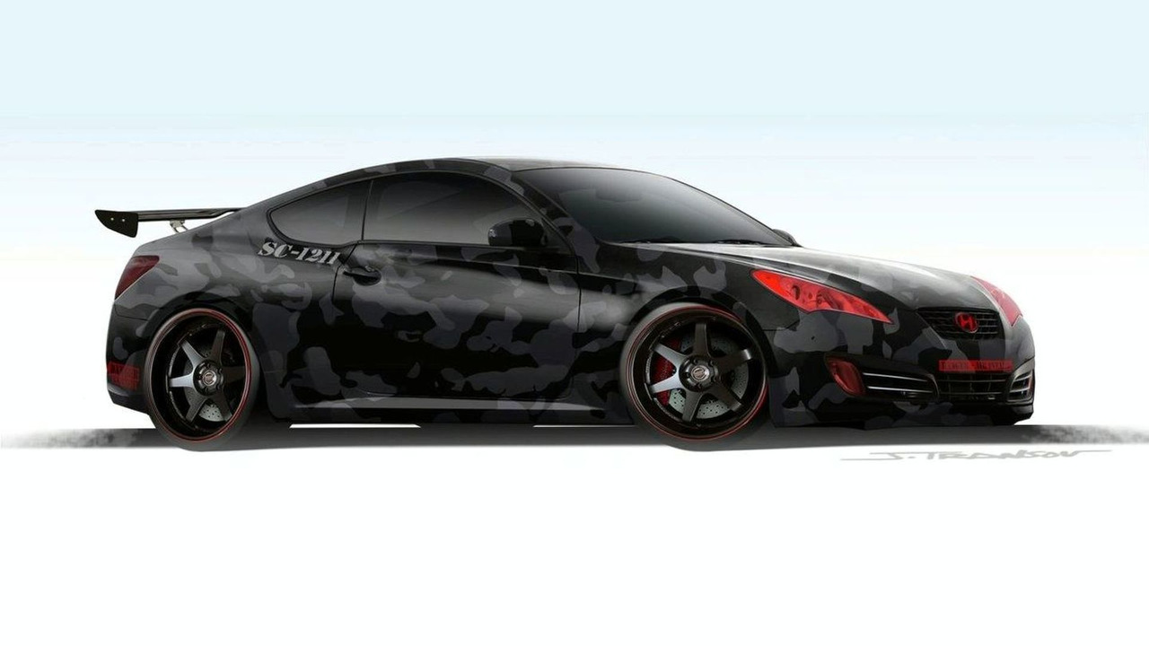 Street Concepts Hyundai Genesis Coupe sketch