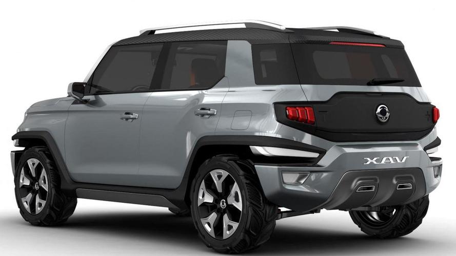 SsangYong XAVL concept SUV teased, Geneva debut