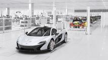 McLaren P1 production line 21.10.2013