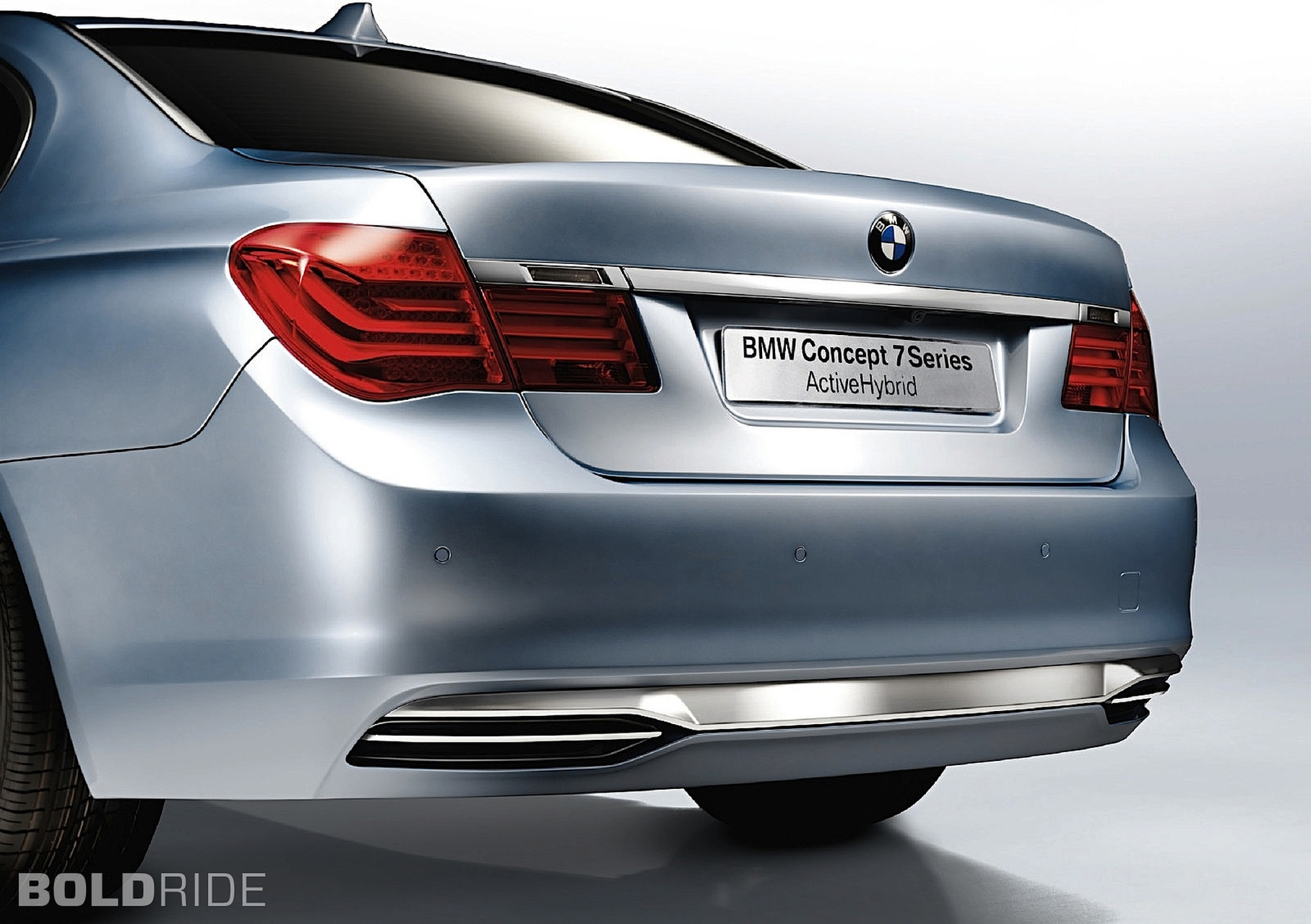 Bmw 7 series activehybrid concept rear angle  № 845091 бесплатно