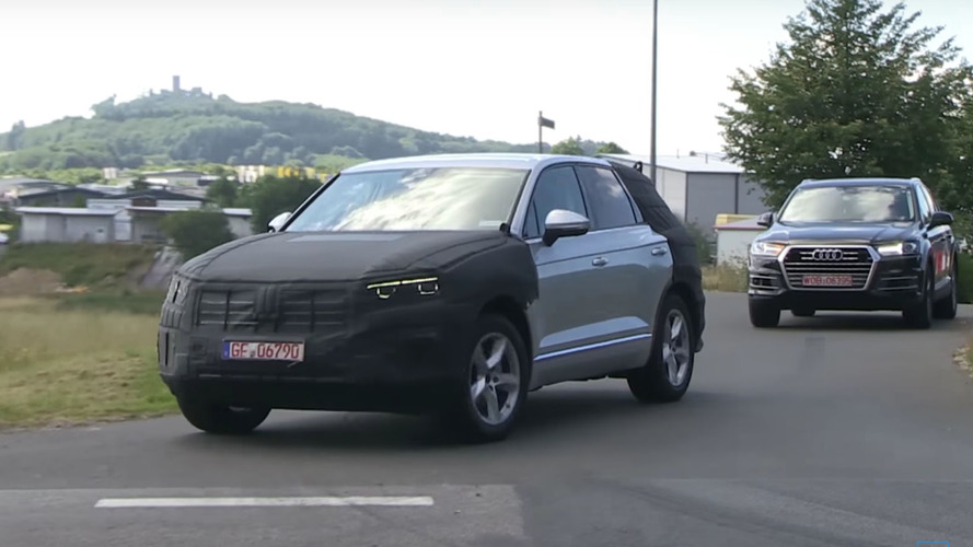2018 Volkswagen Touareg shows its chiseled looks on video