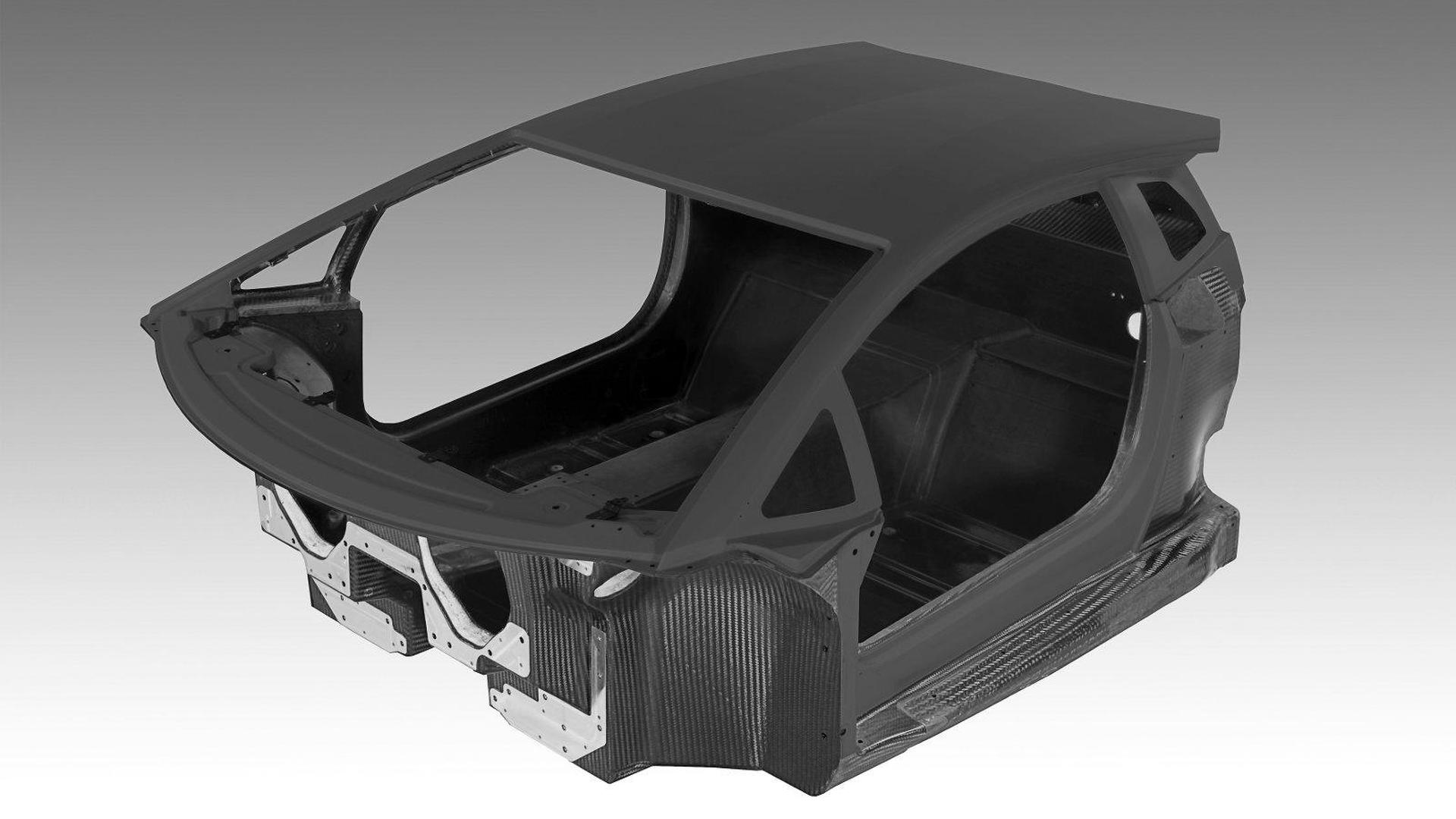 Lamborghini LP700-4 Aventador all-carbon fiber monocoque revealed