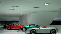 "The exhibition: The concept cars theme shows amongst others the concept car ""Boxster"", 1992 (in front)"