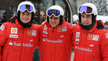 Alonso wears Ferrari gear at media event [Video]
