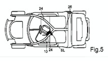 Smart car three-seater patent drawing