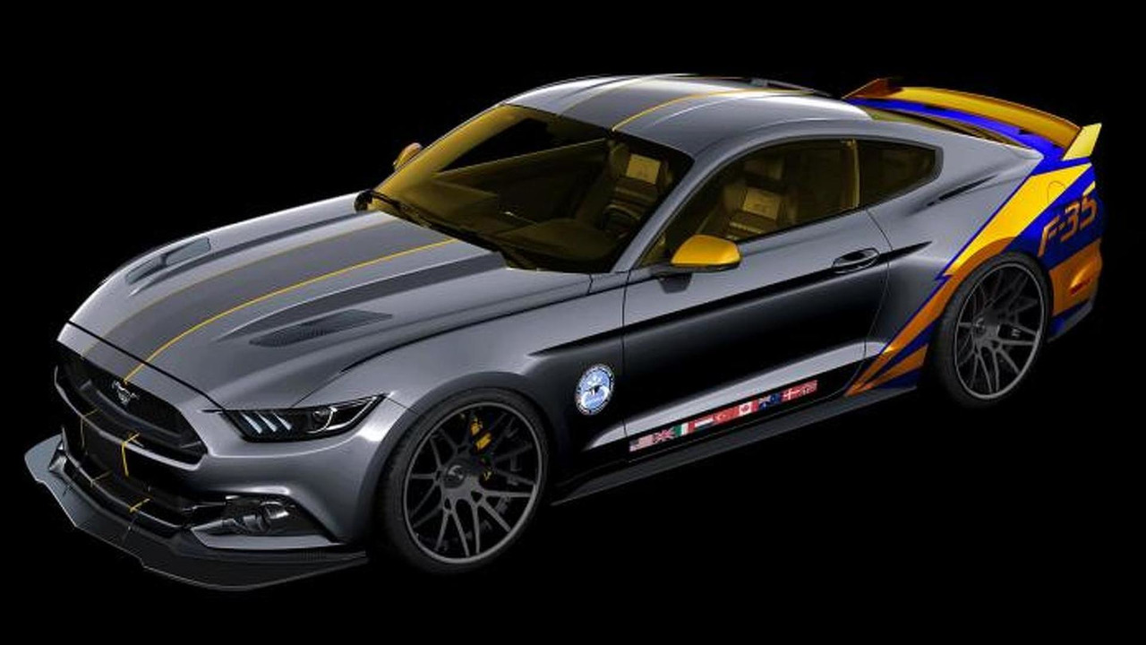 2015 Ford Mustang with Lockheed Martin F-35 Lightning II theme