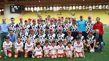 F1 drivers 'miss' Schumacher at football game