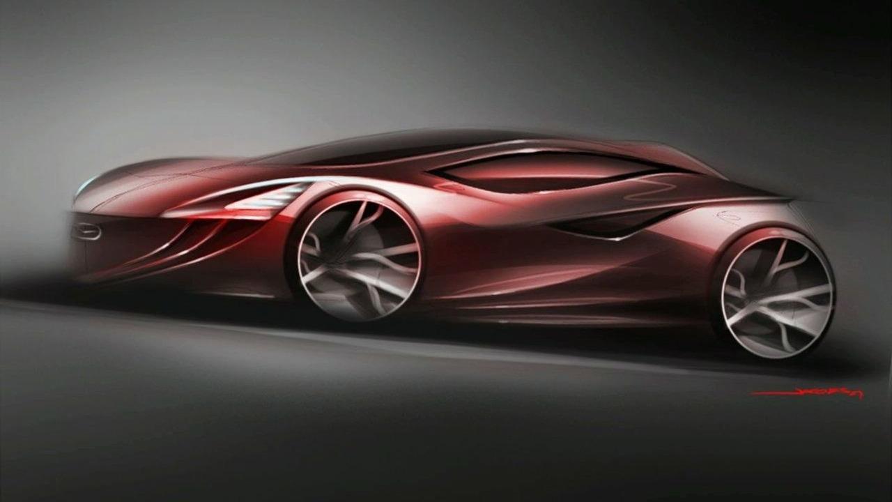 2018 Mazda 3 concept drawing