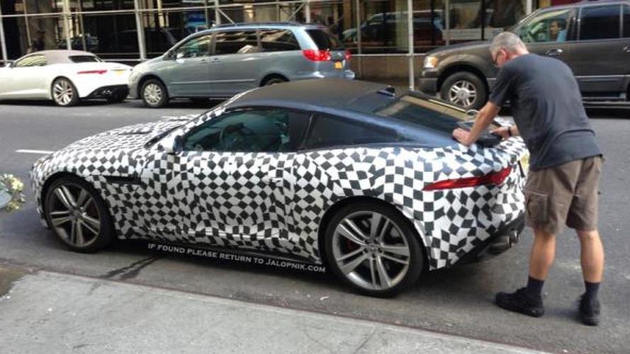 2014 Jaguar F-Type Coupe spied up close