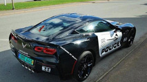 Chevrolet C7 Corvette Stingray with police livery for sale in Sweden
