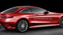 Mercedes-Benz coupe rendering hints a very sexy SLC