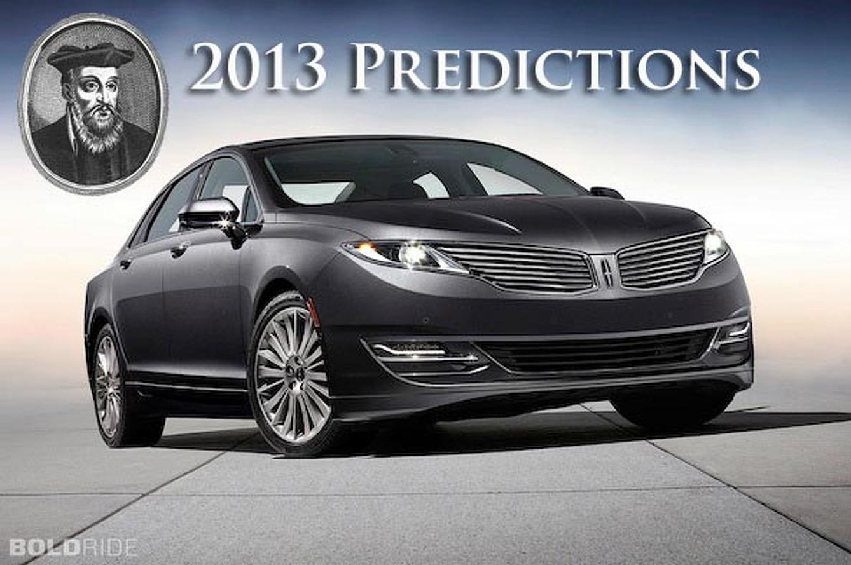 Six Automotive Predictions for 2013