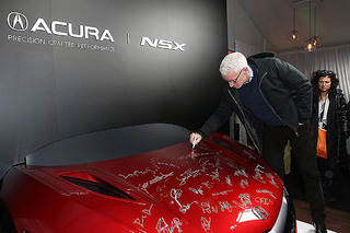 2017 Acura NSX Hood For Sale on eBay, Signed by Sundance Celebrities