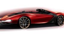 Pininfarina Sergio Tribute Speedster concept sketch