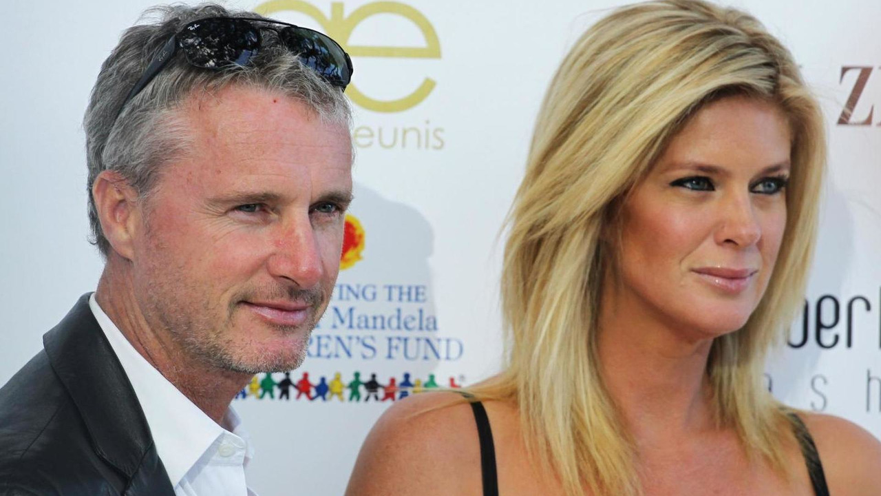Eddie Irvine with Rachel Hunter at Amber Lounge Fashion Show 24.05.2013  Monaco Grand Prix