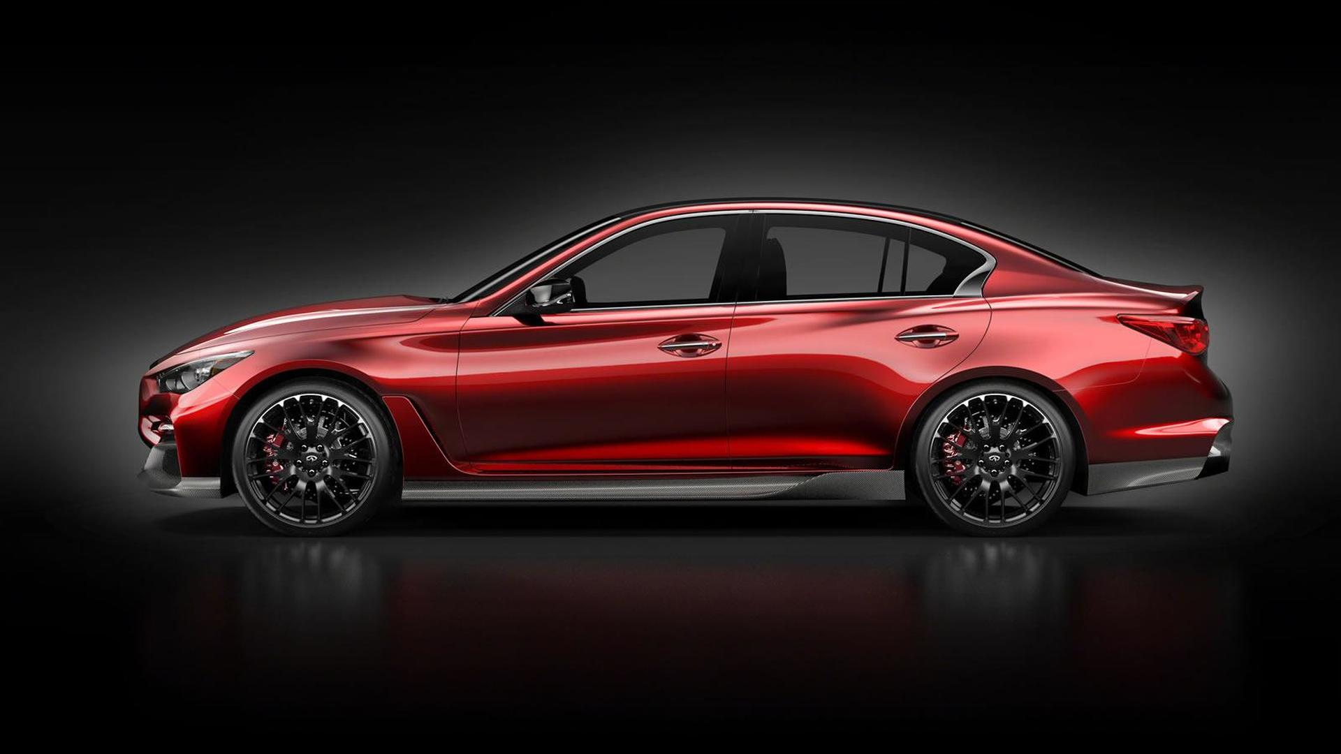 Infiniti shows Q50 Eau Rouge concept side profile