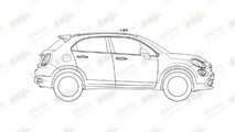 Fiat 500X leaked patent sketch