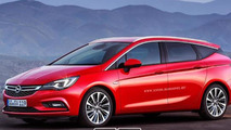Opel Astra K wagon and sedan already rendered