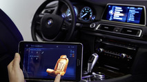 BMW TouchCommand rear seat control system